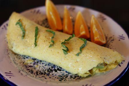 Omelet-basil