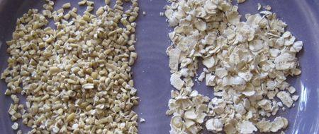 Oatmeal-grains