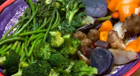 Steamed-vegetable-platter